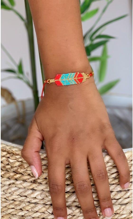 Bracelet Enata Rouge