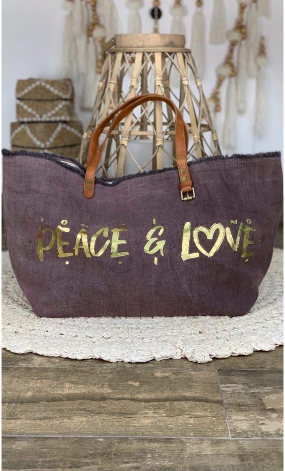 Cabas Penida Chocolat Peace & Love Or