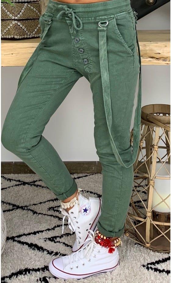 Pantalon Will Bretelles Kaki