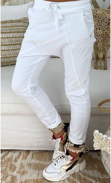 Pantalon Sarouel Luigi Blanc