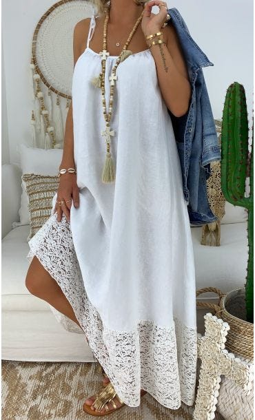 Robe Maalya Blanc