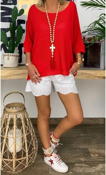 Pull Lilo Rouge