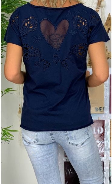 T-Shirt Anton Bleu Marine Cupidon