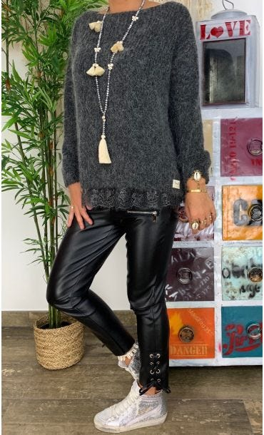 Pull Maty Gris Anthracite