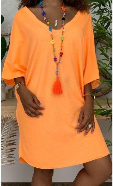 Petite Robe Ultra-light Farah Orange Fluo