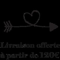 LIVRAISON OFFERTE A PARTIR DE 120 €